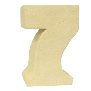 No.7 Sandstone Candle Holders Stone Birthday Numbers