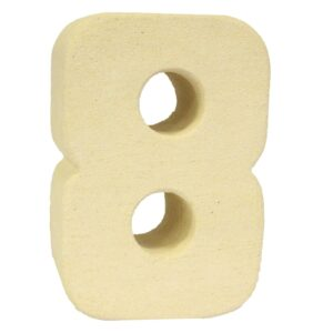 No.8 Sandstone Candle Holders Stone Birthday Numbers