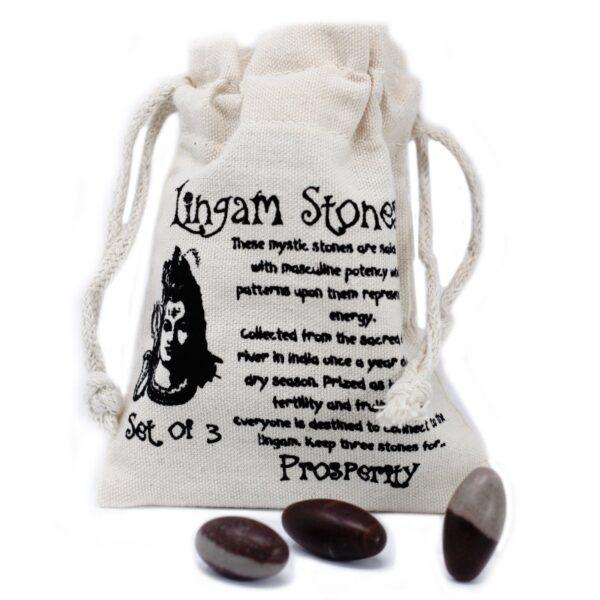 One Inch Lingam 3 Stones Lingam Stones