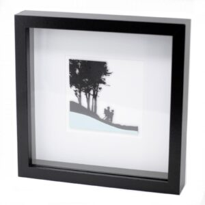 Paper Cut out Black Picture Frame Family Trip Paper Cutout Picture Frames