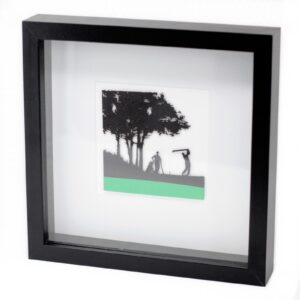 Paper Cut out Black Picture Frame Golfing Paper Cutout Picture Frames