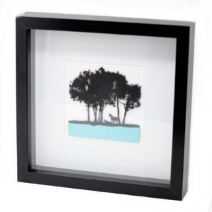 Paper Cut out Black Picture Frame Horses Paper Cutout Picture Frames