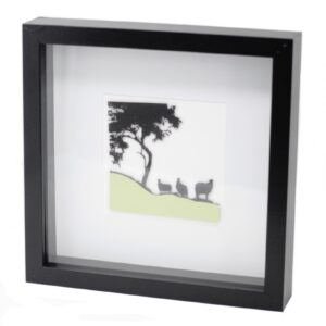 Paper Cut out Black Picture Frame Sheep Paper Cutout Picture Frames