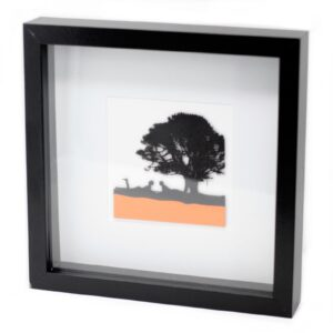 Paper Cut out Black Picture Frame Under The Tree Paper Cutout Picture Frames