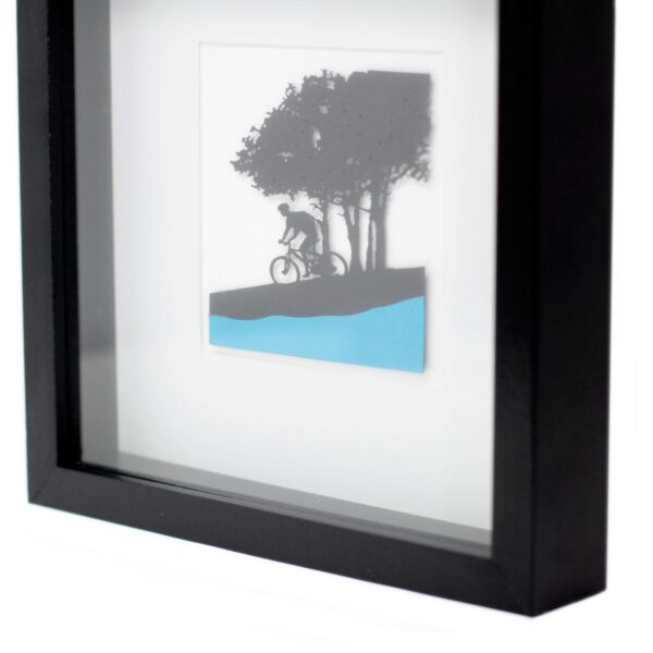 Paper Cut out Black+G2103:G2180 Picture Frame Single Cyclist Home Décor