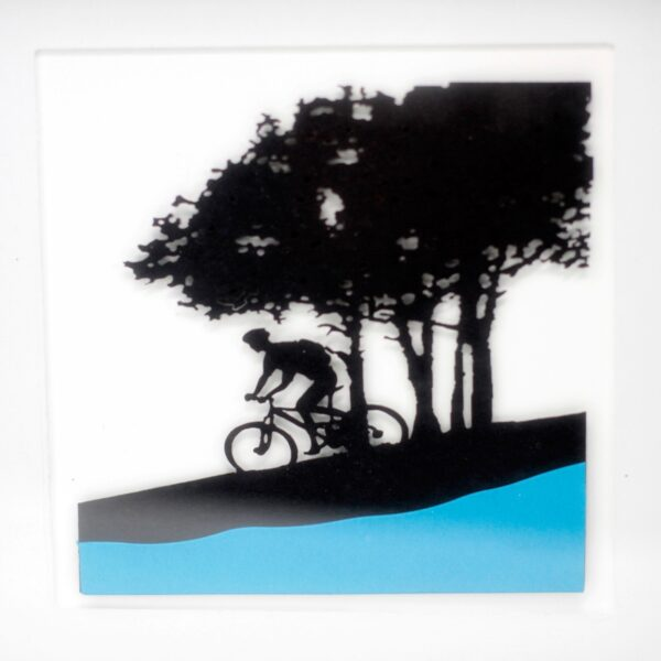 Paper Cut out Black+G2103:G2180 Picture Frame Single Cyclist Picture Frames