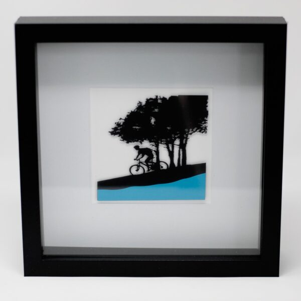 Paper Cut out Black+G2103:G2180 Picture Frame Single Cyclist