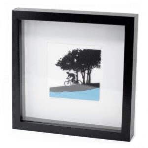 Paper Cut out Black+G2103:G2180 Picture Frame Single Cyclist Paper Cutout Picture Frames