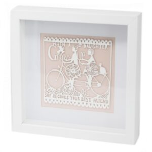 Paper Cut out White Picture Frame Daughter Paper Cutout Picture Frames