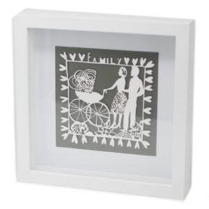 Paper Cut out White Picture Frame Family Paper Cutout Picture Frames