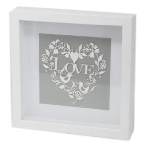Paper Cut out White Picture Frame Love Paper Cutout Picture Frames