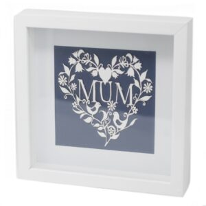 Paper Cut out White Picture Frame Mum Paper Cutout Picture Frames
