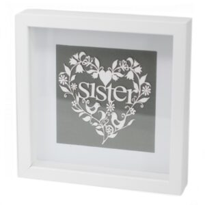 Paper Cut out White Picture Frame Sister Paper Cutout Picture Frames
