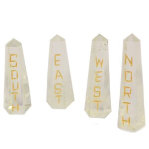 Points of the Compass Quartz Stone Set Esoteric Pouch Sets