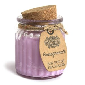Pomegranate Soy Pot of Fragrance Candles Soy Pot of Fragrance Candle