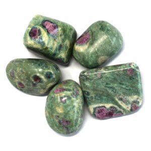 Premium Tumble Stones Ruby with Fuchsite Premium Tumble Stones