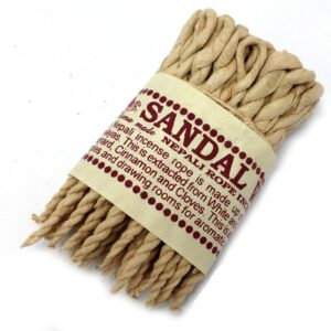 Pure Herbs Sandalwood and Spice Rope Incense Pure Herbs Incense Ropes