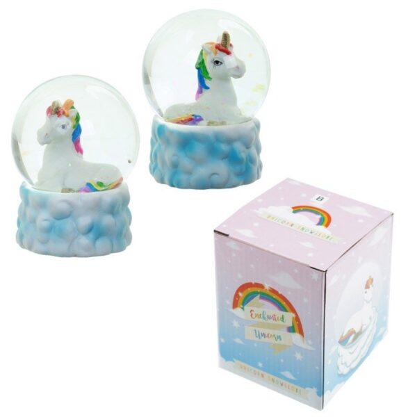 Rainbow Unicorn and Cloud Water ball Snow Globe While Stocks Last