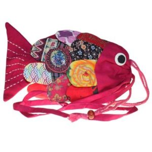 Recycled Handmade Fish Bags Pink Recylced Handmade Fish Bags