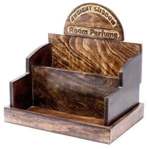Room Perfume Display Stand Mango Wood Retail Display Stands