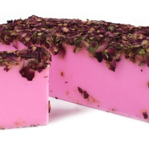 Rose and Rose Petals Soap Loaf Wild & Natural Hand-Crafted Soap 1.3kg and Slices