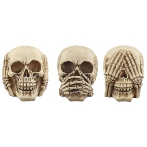 Set of 3 Hear No Speak No See No Evil Favorite Gothic Stuff