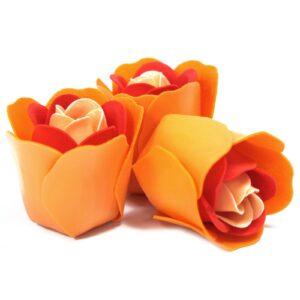 3 Soap Flowers