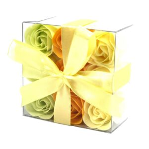 Set of 9 Soap Flowers Spring Roses Luxury Soap Flowers
