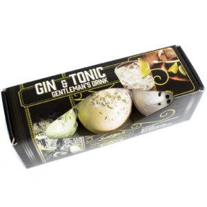 Set of Three Gin and Tonic Bath Bombs Cocktail Bath Bombs