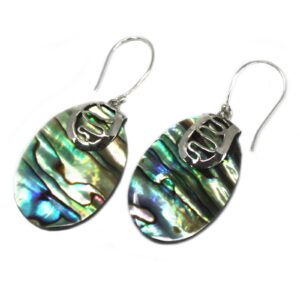 Shell and Silver Earrings Abalone Shell & Silver Earrings
