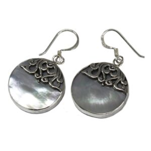 Shell and Silver Earrings Classic Disc MOP Shell & Silver Earrings