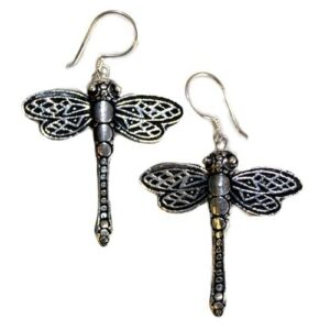 Silver Earrings Dragonflies 925 Silver Animal Earrings