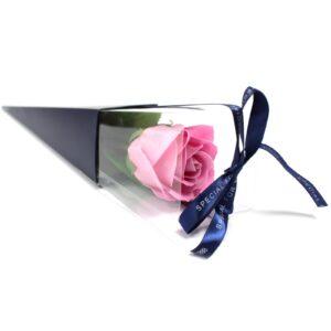 Single Rose Pink Rose Luxury Soap Flowers