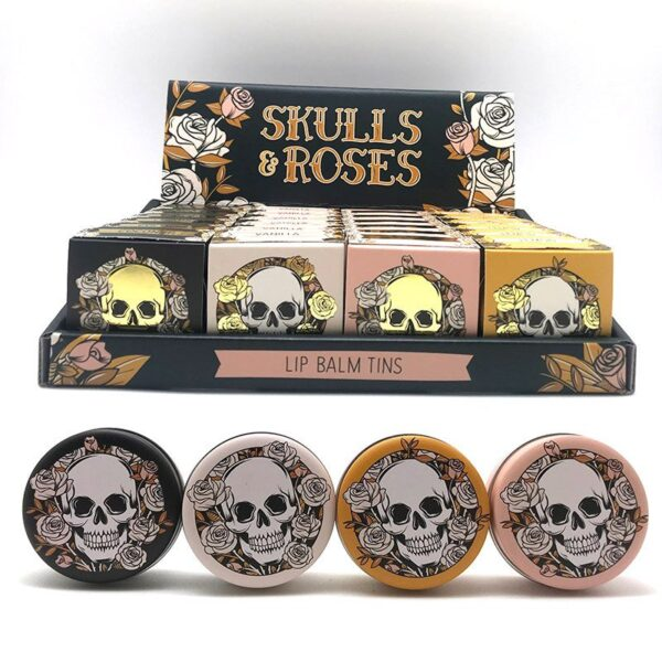 Skull and Roses Lip Balm in a Tin While Stocks Last