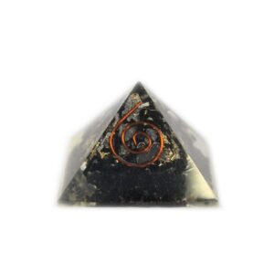 Sm Orgonite Pyramid 25mm Gem chips and Copper Orgonite