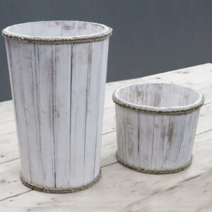 Small Nautical Display Tub Whitewash 21x29cm Retail Display Stands