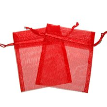 Small Organza Bags Red New Small Organza Bags - 6x8cm