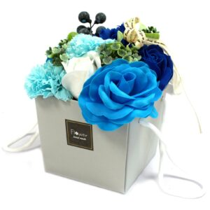 Soap Flower Bouquet Blue Wedding Luxury Soap Flowers