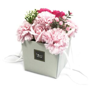 Soap Flower Bouquet Pink Rose and Carnation Luxury Soap Flowers