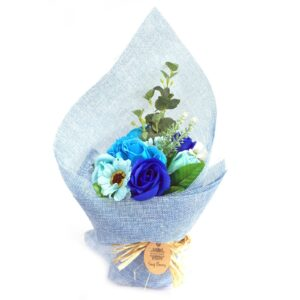 Standing Soap Flower Bouquet Blue Soap Flower Bouquets