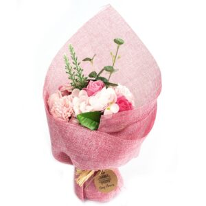 Standing Soap Flower Bouquet Pink Soap Flower Bouquets
