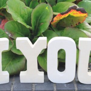 Stone Word IYOU Stone Letter Sets