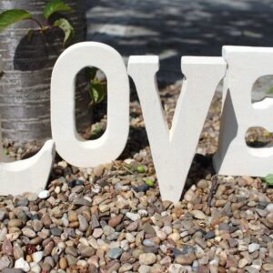 Stone Word LOVE Stone Letter Sets