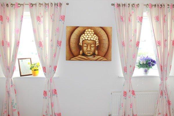 Sun Buddha Golden  60x80cm Home Décor