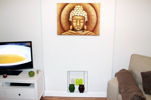 Sun Buddha Golden  60x80cm Wall Hangings