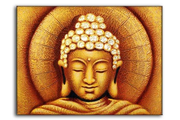 Sun Buddha Golden  60x80cm Bali Original Art