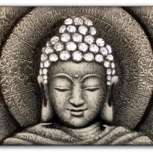 Sun Buddha Silver  60x80cm Bali Original Art