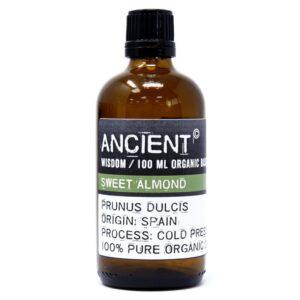 Sweet Almond Organic Base Oil 100ml Organic Base Oils - 100ml