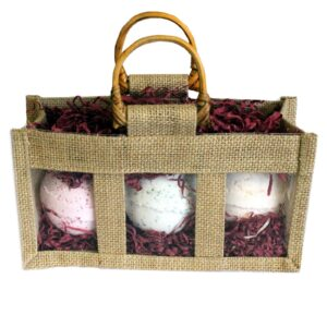 Three Jar Jute Gift Bag Natural Jute Gift Bags