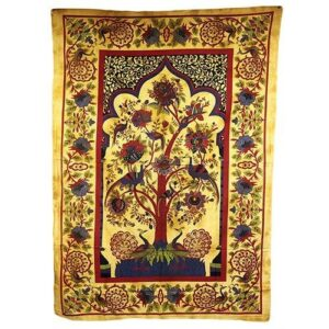 Tree of Life Brown Iconic Indian Bedspreads or Wall Hangings